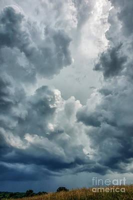 Thomas Kinkade - Storm Coming over the Ridge by Thomas R Fletcher