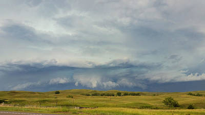 Vintage College Subway Signs Color - Storm Near Hyannis, Nebraska on 6/25/20 by Ally White