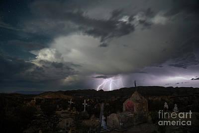 Photograph - Storm over Terlingua, Big Bend Natonal Park, Texas by Keith Kapple