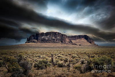 Rights Managed Images - Stormy Fort Rock Royalty-Free Image by Stan Townsend