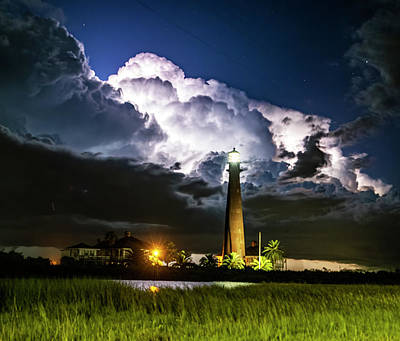 Wild Weather - Stormy Lighthouse by Jerry Connally