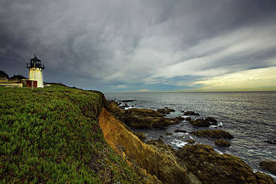 Autumn Pies - Stormy Sky Over Point Montara Lighthouse by Ian Good
