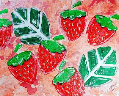 Curated Beach Towels - Strawberries  by Keri Fuller