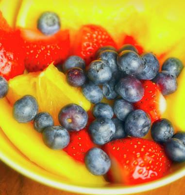 Marvelous Marble - Strawberry Mango Orange Blueberry Lemon Dessert by Johanna Hurmerinta