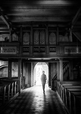 Photograph - Street photography Germany - In the small church by Frank Andree