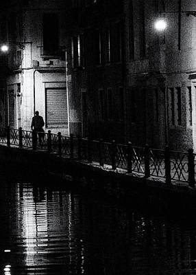Photograph - Street photography Italy - Alone in Venice by Frank Andree