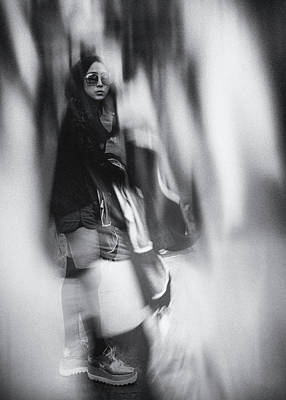 Photograph - Street portrait of a young woman in Florence by Frank Andree