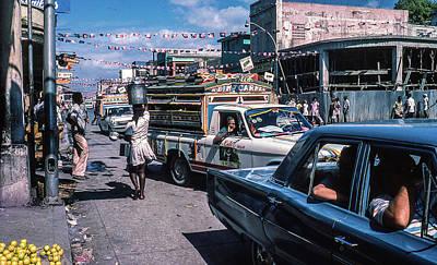 Door Locks And Handles - Street scene Haiti by Peter Jenkins