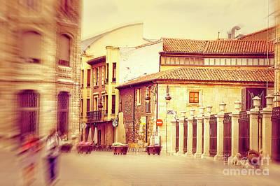 Photograph - Street Scene - Leon Spain by Mary Machare