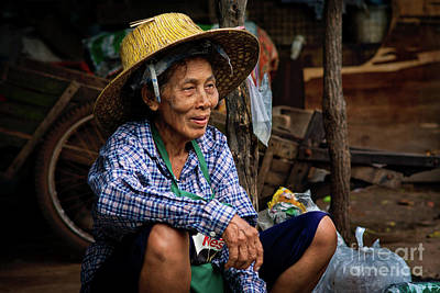 Lee Craker Royalty-Free and Rights-Managed Images - Street Vendor Prachinburi by Lee Craker