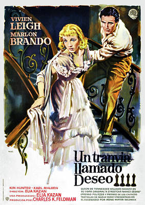 Mixed Media Royalty Free Images - A Streetcar Named Desire movie poster 1951 Royalty-Free Image by Stars on Art