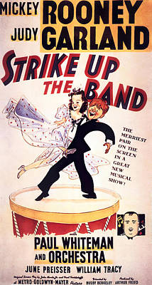 Mixed Media Royalty Free Images - Strike Up the Band, with Mickey Rooney and Judy Garland, 1940 Royalty-Free Image by Stars on Art