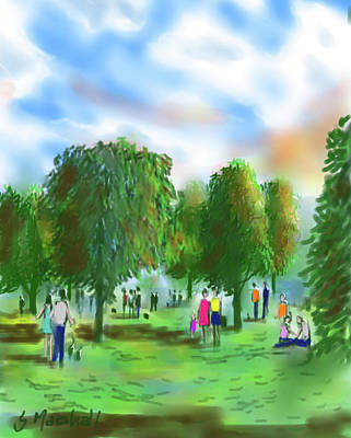 Painting - Stroll in the Park by Glenn Marshall