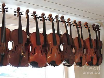 Water Droplets Sharon Johnstone - Strung Violines Germany Stugart by Diane Greco-Lesser