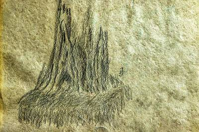 Drawings Royalty Free Images - Stub on waterfall #k9 Royalty-Free Image by Leif Sohlman