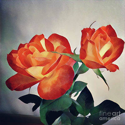 Photograph - Stylized Tahitian Roses by Julieanne Case