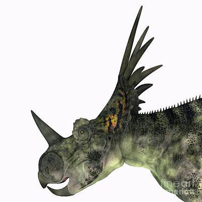 Achieving - Styracosaurus Dinosaur Head by Corey Ford