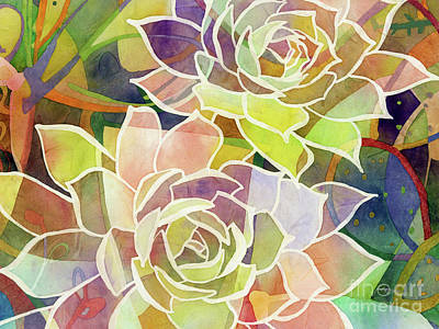 Urban Abstracts - Succulent Mirage 2-Horizontal by Hailey E Herrera