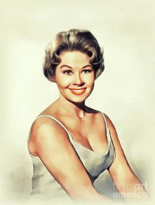 Painting - Sue Ane Langdon, Vintage Actress by John Springfield