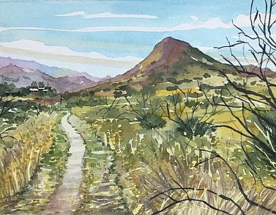 Popstar And Musician Paintings - SugarLoaf from Paramount Trail by Luisa Millicent