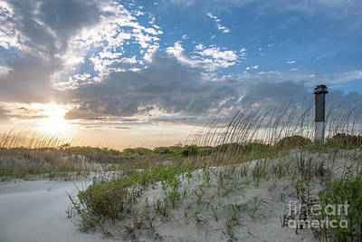 Photograph - Sullivan's Island Lighthouse - Coastal Dunes by Dale Powell