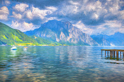 Door Locks And Handles - Summer Alps Lake by David Pyatt