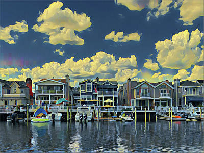 Surrealism Royalty-Free and Rights-Managed Images - Summer Bayside Living by Surreal Jersey Shore