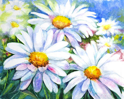 Celebrity Watercolors - Summer Daisies by Patricia Allingham Carlson