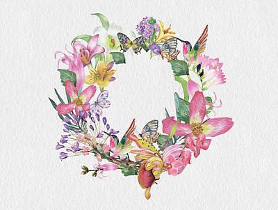Classic Golf - Summer Flowers Birds And Butterflies by Johanna Hurmerinta