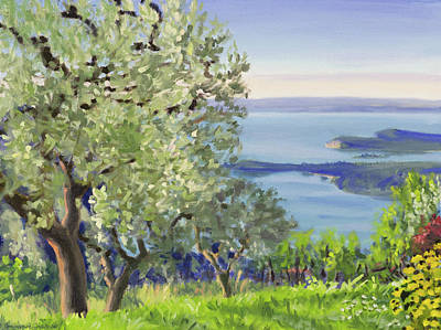 Painting - Summer landscape in Italy by Constanza Weiss