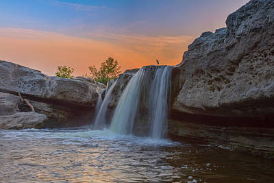 Shark Art - Summer Sunset at McKinney Falls 11 by Rob Greebon