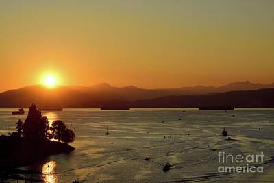 Vintage Movie Stars - Summer Time Sunset On The West Coast by Terry Elniski