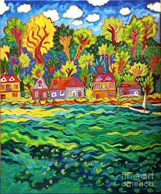 Painting - Summer Turns To Fall by Cathy Carey