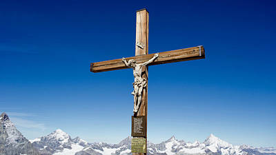 Granger - Summit cross, Klein Matterhorn, Zermatt, Valais, Switzerland by Joe Vella