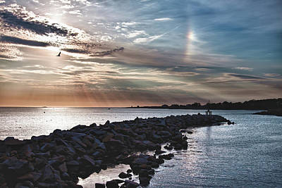 Movies Star Paintings - Sun Dog over Rockport by Jeff Folger
