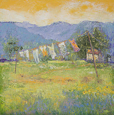 Painting - Sun Dried Country by Jude Lobe