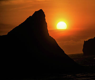 Royalty-Free and Rights-Managed Images - Sun sinking at Bandon  by Jeff Swan