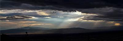 Photograph - Sunbeams on Suswa Panorama by Mike Gaudaur