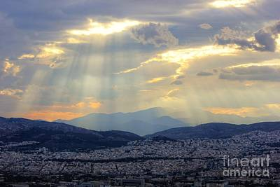 World Forgotten - Sunbeams over the Mountains by Vicki Spindler