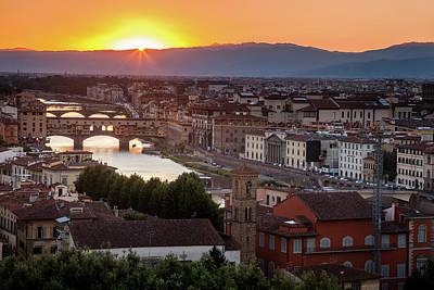 Audrey Hepburn - Sunburst over Florence by Andrew Soundarajan