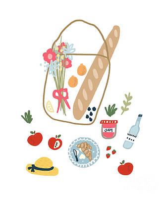 Kids Alphabet - Sunday Picnic by Kathrin Legg