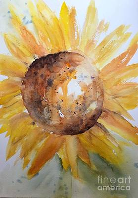Painting - Sunflower  by Andrea Rubinstein