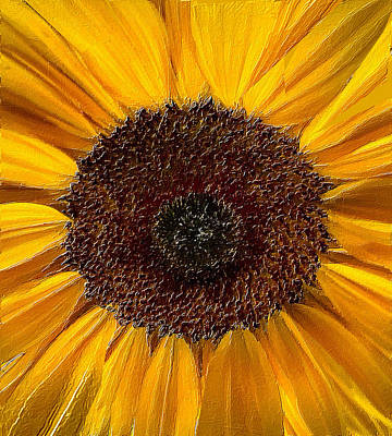 Popstar And Musician Paintings Royalty Free Images - Sunflower Face Royalty-Free Image by Tony Rubino