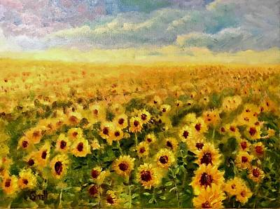 Painting - Sunflowers by Roger Snell