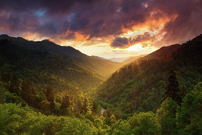 Olympic Sports - Sunlight Across the Smoky Mountains by Jackie Novak