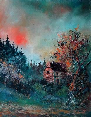 Abstract Airplane Art - Sunlight on a hunter s house  by Pol Ledent