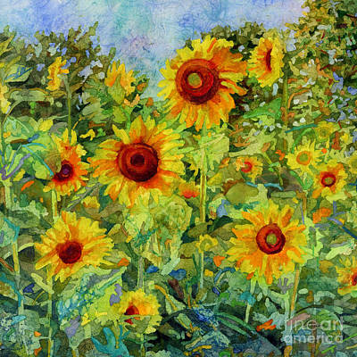 Roaring Red - Sunny Meadow-square format by Hailey E Herrera