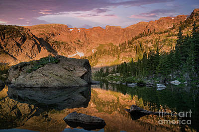 Photograph - Sunrise at Forest Lake Colorado by Keith Kapple