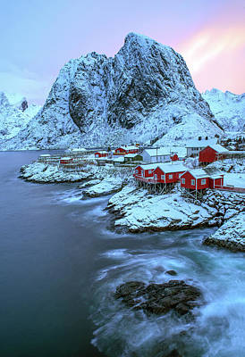 Royalty-Free and Rights-Managed Images - Winter in Hamnoy, Lofoten Islands 1 by Dubi Roman