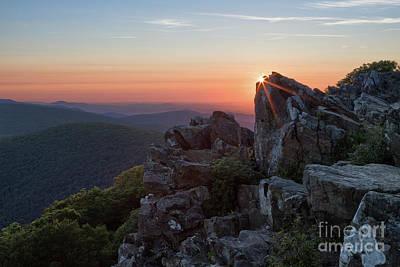 Photograph - Sunrise at Hawksbill Mountain by Brandon Adkins
